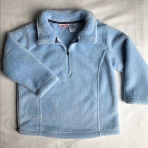 Fleece pullover 3T blue fleece jacket half zip EUC